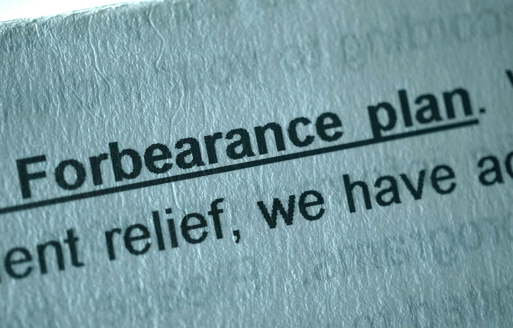 words forbearance plan